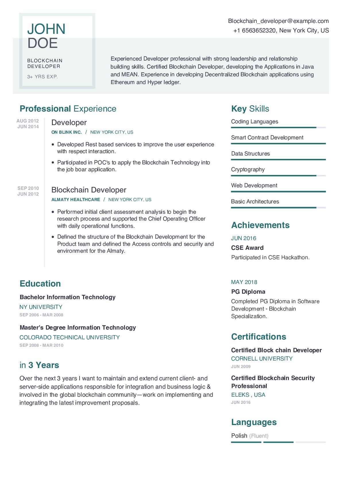 Resume Example